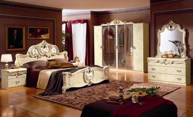 Camera da letto Barocco Veneziano, Mobila Komponent